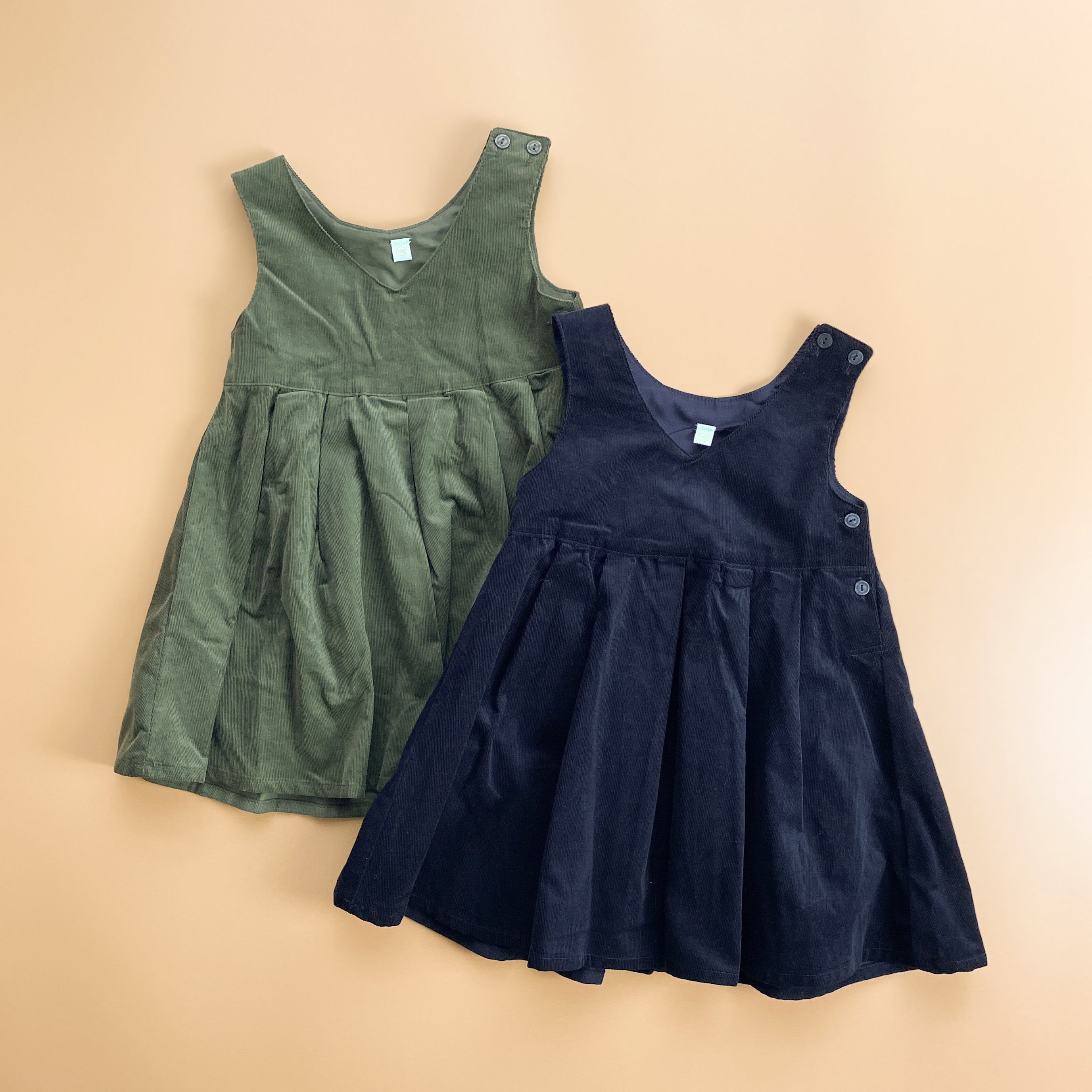 【KIDS】corduroy pleated dress
